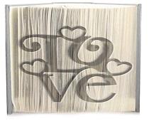 Love 3 hearts pattern