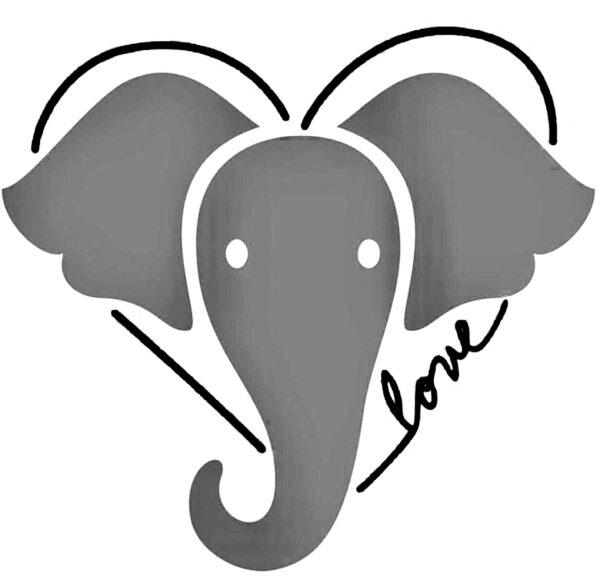Elephant love image